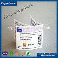 High quality double layer label,peel back multiple layer label,colorful multilayer label