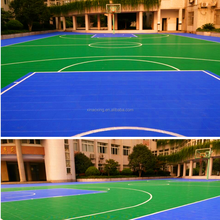 SUGE Brand Outdoor Interlocking Sport Floor For Standard Basketball Court