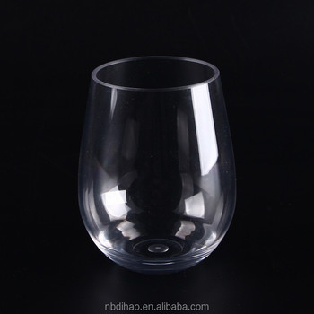 16oz Unbreakable Thick Stemless Wine Glass