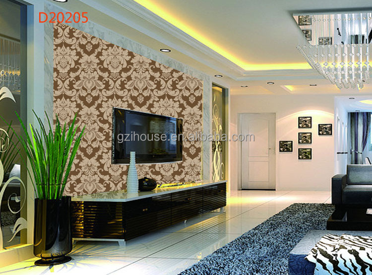 Guangzhou new design texture pvc cheap modern wallpaper for Cheap modern wallpaper