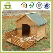 SDD10 Wooden balcony dog house with porch