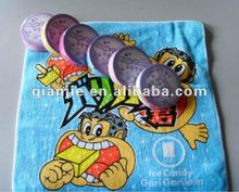Pure cotton magic towel with pigment printing wholesales