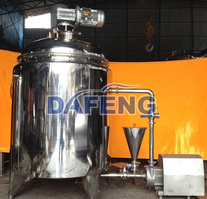 High shear homogenizing vacuum emulsifying mixer for cosmetic,cream,lotion