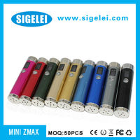 2013 Variable voltage mini zmax with stainless steel and alluminum 7colors options mech mod ds