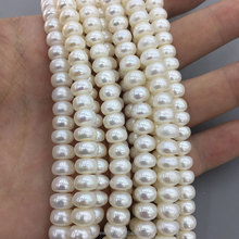 7-8mm Thin Button Shape Natural Freshwater Bulk Pearl Price