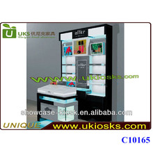 2014 Shopping mall cosmetic kiosk,cosmetics display kiosk for cosmetics display