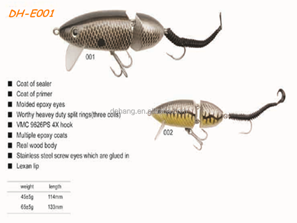 Many kinds of superior quality wood fishing lure