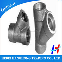 stainless steel socket weld tee, high pressure pipe fittings