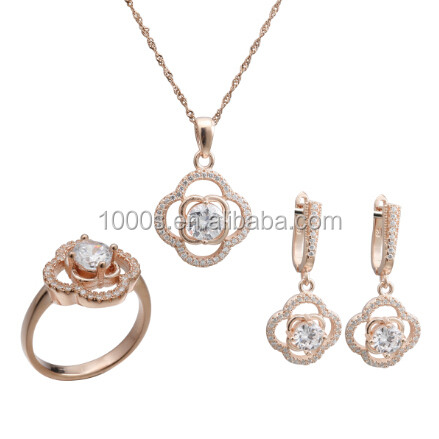 925 silver black and white jewelry set