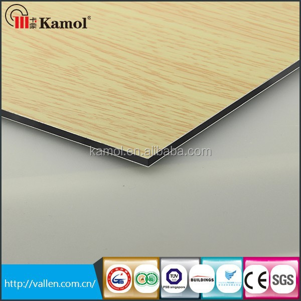 Curtain wall Wood series wall metal panels sandwich panel inserts