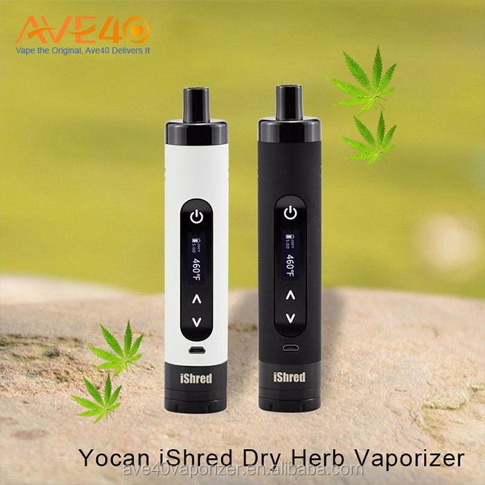 best quality 100% ceramic Yocan iShred dry herb vaporizer with built-in grinder for dry herb