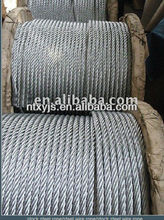 1x19 galvanized steel wire rope 11mm