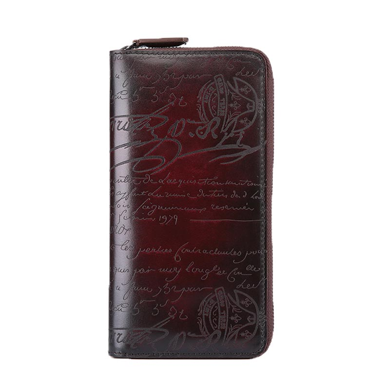 TERSE custom Italian leather wallet men 100%handmade lettering design Long purse OEM/ODM service
