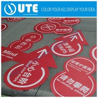 Attractive free design costom make waterproof outdoor adhesive sticker