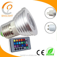 High Power Pas Cher RGB E27 GU10 GU5.3 4W LED Spot Lampe Ampoule Eclairage Lumiere