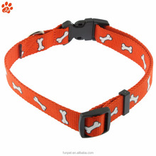 latest design factory directly sale plastic buckle silk screen printing dog collar
