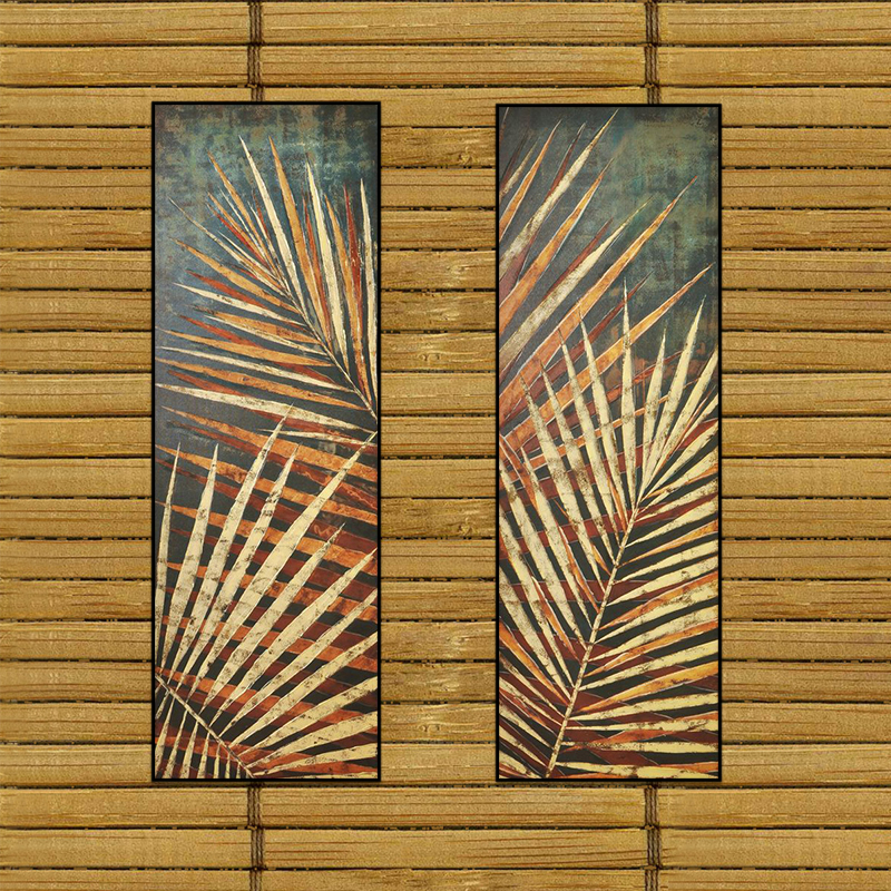 <strong>Art</strong> painting Simple Life Southeast Asia Palm leaves Painting Wall <strong>Art</strong> Decor Framed Canvas Prints Watercolor wall painting
