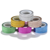 6mm*5m hot sale glitter tape scrabooking deco tape sticky craft adhesive tape