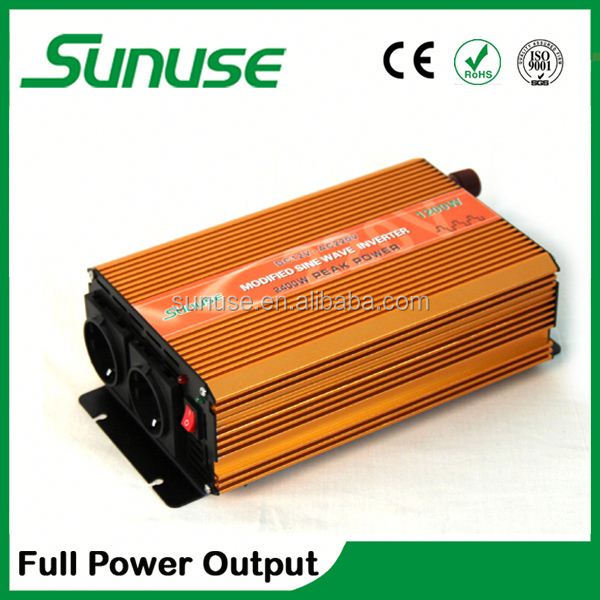 Continuous 1.2kw Peak 2.4kw/12v 220v solar power inverter charger Dual 230v outlets