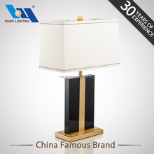 Classic modern hotel Black elegant crystal Pure copper table lamp for bedroom