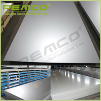 factory direct sale standard 304 316 0.5mm thick mirror finish stainless steel sheet
