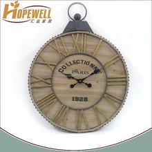 Wholesale vintage wood decoration bathroom clock
