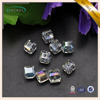 Cube Shaped Faceted Beautiful Crystal Glass