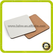 sublimation square wood coaster with cork bottom