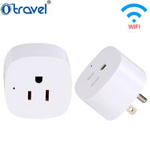 Otravel wholesale 220v wireless mini smart google home alexa wifi socket power us aus eu uk plug outlet