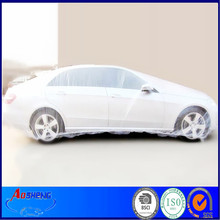 Clear plastic disposable quick car cover
