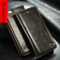 CaseMe Wholesale Leather Case High Quality Original Cell Phone Cover Case For Apple iPhone 6 6S Plus
