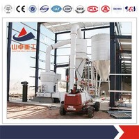 SZ- CHINA High pressure suspension mill for lime , fluorite mill with adjustable classifier