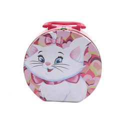 High Quality Lovely Round Food Packaging Kids Lunch Tin Box with Lock