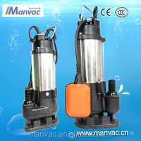 non blocking electric driven trash pump water pump dc submersible water pump