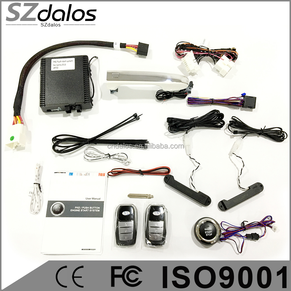 Smart key pke push button start stop system remote start engine start stop with keyless entry system