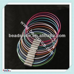 ID 8870 Tiger Tail Wire Bracelat 1mm thick 7 inch Clasp:4mm wholesale bracelet