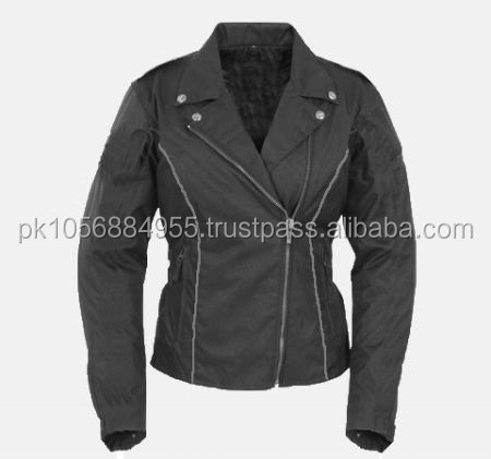 Textile motorbike Ladies Jacket , PU Jacket , Motorcycle Jacket