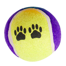 durable blank colored big size tennis ball