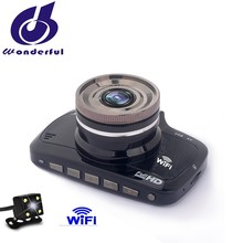 Unique design FHD 1080P 25fps dual lens car dvr WiFi for trucks strong night vision car dvr camera
