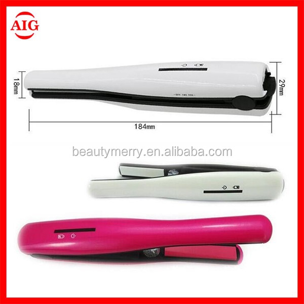 Hot Sell Top 10 mini rechargeable hair straighteners USB Rechargeable lithium battery best flat iron