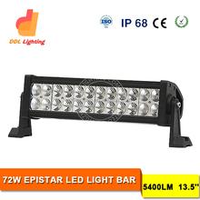 Good News! China factory big promotion 72w double row led light bar for off road 13.5 inch 6000 super bright CE and ROHS