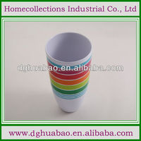2013 newest novelty item 6 color melamine rainbow cups rainbow cups set