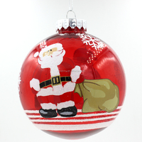 Promotional fine quality glass christmas balls ornaments clear