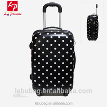 Custom dot plastic travel luggage sets suitcases luggage