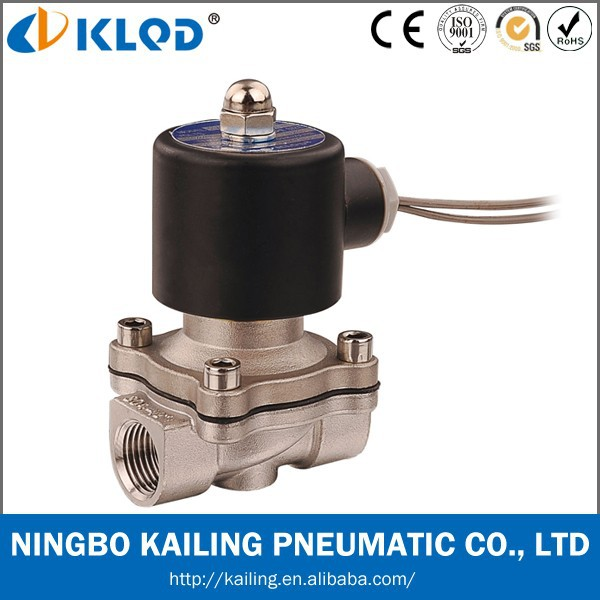 Stainless steel direct acting solenoid water valve 2WB-10 3/8""