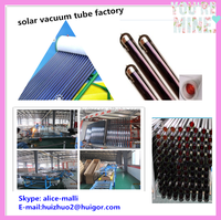 58*1600mm Heat pipe solar thermal collector with three target solar vacuum tubes