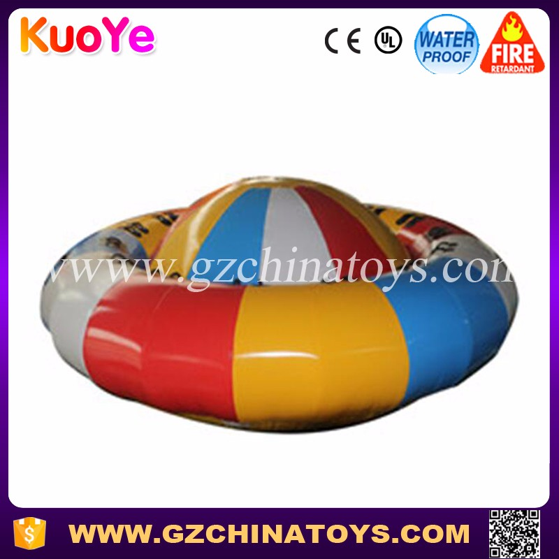New design exciting water toys inflatable disco boat for sale