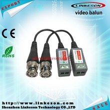 1CH passive security CCTV UTP twisted pair BNC male connector video balun