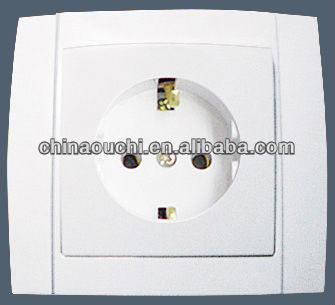 European Style Flush Mounting Wall Socket with Grounding (SR-2506)