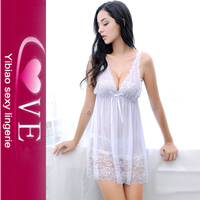 Sheer Lingerie Factory Flirty Lace Trim Microfiber Babydoll With G-String